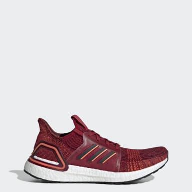 Men Running Burgundy Ultraboost 19 Shoes