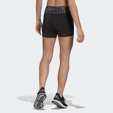 Women Running Black Fast Primeblue Graphic Booty Shorts
