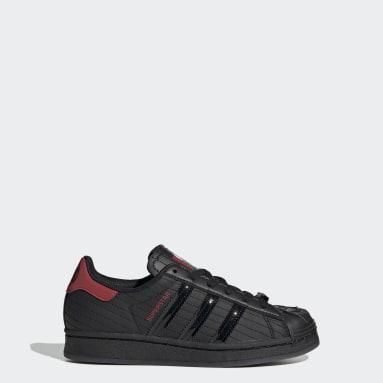 Kids Originals Black Superstar Star Wars Darth Vader Shoes