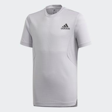 Camiseta HEAT.RDY Gris Niño Gimnasio Y Entrenamiento