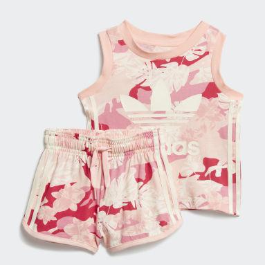 Kinderen Originals Wit Short en Shirt Setje