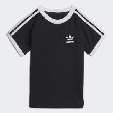 Deti Originals čierna Tričko 3-Stripes