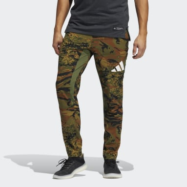 Men Cricket Green Training 3-Stripes Camo Joggers