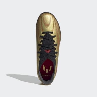 Chuteira Nemeziz Messi.3 Society Ouro Kids Futebol
