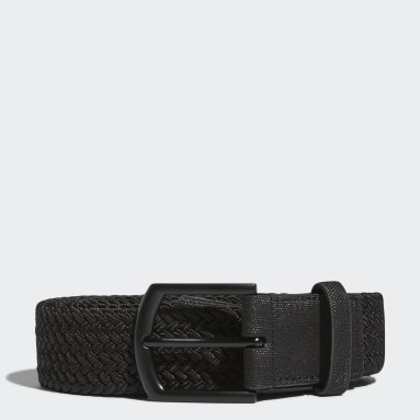 Golf Black Braided Stretch Belt