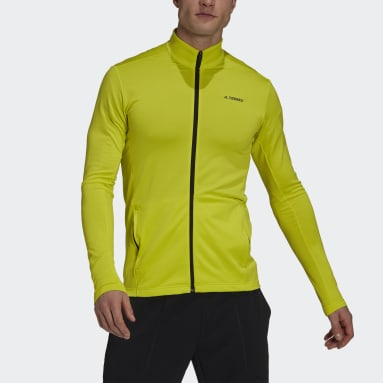 Men TERREX Yellow Terrex Multi Primegreen Full-Zip Fleece Jacket