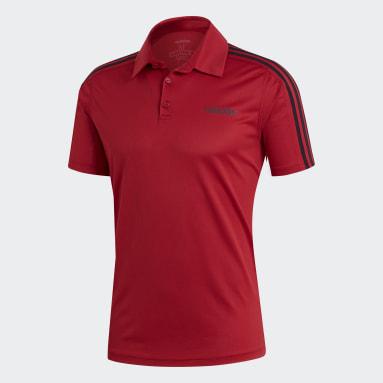 Men Training Burgundy Design 2 Move Polo Shirt