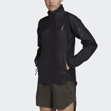 Women Lifestyle Black Agravic Trail Parley Wind Jacket