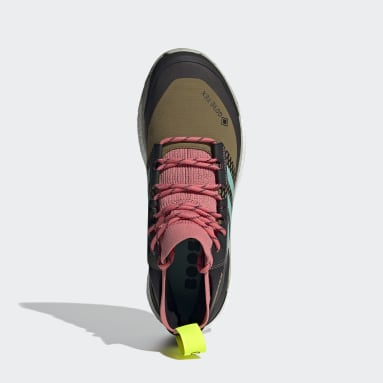 Men TERREX Brown Terrex Free Hiker Gore-Tex Hiking Shoes