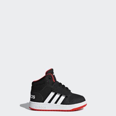 Kids Basketball Black Hoops 2.0 Mid Shoes