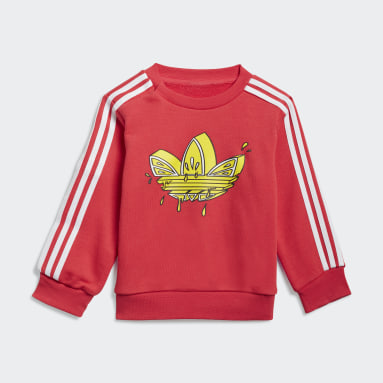 Infants Originals Pink Graphic Trefoil Crew Set