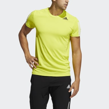 Men Training Yellow HEAT.RDY 3-Stripes Tee