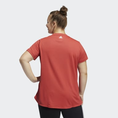 T-shirt Badge of Sport (Grandes tailles) Rouge Femmes Running