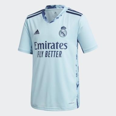 Børn Fodbold Blå Real Madrid 20/21 Home målmandstrøje