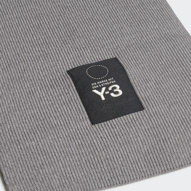 серый Шарф Y-3 Logo