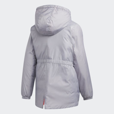 Girls Gym & Training Grey Insulated Jacket