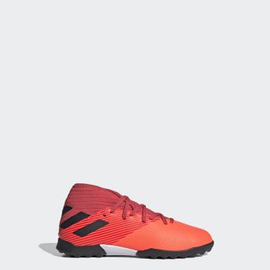 Children Football Orange Nemeziz 19.3 Turf Boots