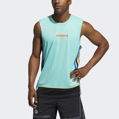 Men Basketball Green Harden Tank Top