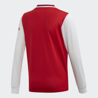 Youth 8-16 Years Football Red Arsenal Home Jersey