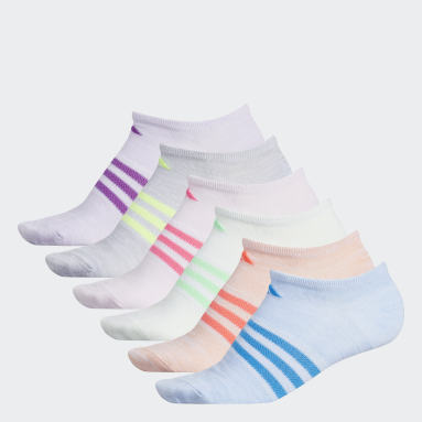 Children Training Multicolor Superlite No Show Socks 6 Pairs