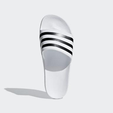 ว่ายน้ำ สีขาว รองเท้าแตะ Adilette Aqua