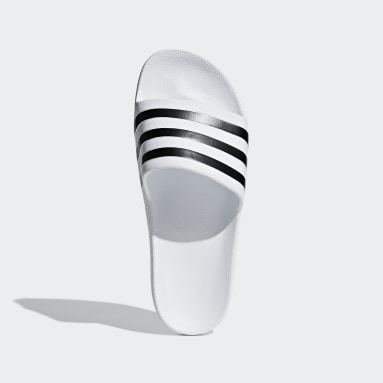 Schwimmen Aqua adilette Weiß