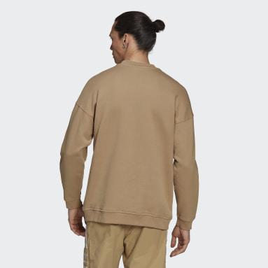 Sudadera cuello redondo Adicolor Classics Lock-Up Trefoil Beige Hombre Originals