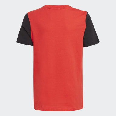 Youth 8-16 Years Gym & Training Red Logo T-Shirt