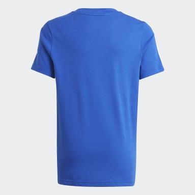 T-shirt adidas Essentials 3-Stripes Bleu Garçons Sportswear