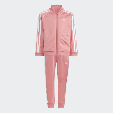 Kids 4-8 Years Originals Pink Adicolor SST Tracksuit