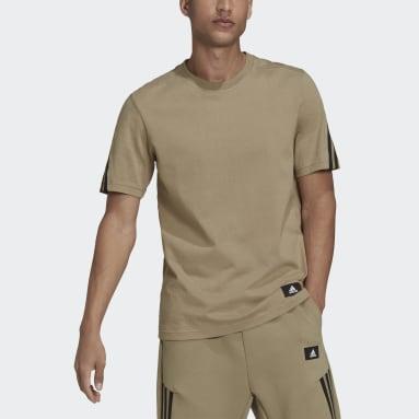 Camiseta adidas Sportswear Future Icons 3 bandas Verde Hombre Sportswear