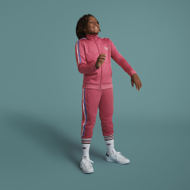 Kids Originals Pink Adicolor Track Pants