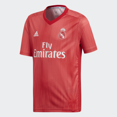 Maglia Third Youth Real Madrid Rosso Bambini Calcio