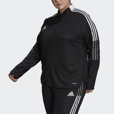 Women's Soccer Black Tiro Track Jacket (Plus Size)