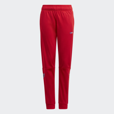 Youth 8-16 Years Originals Red Adicolor Tracksuit Bottoms