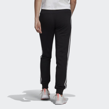 Dames Sportswear Zwart Essentials French Terry 3-Stripes Broek