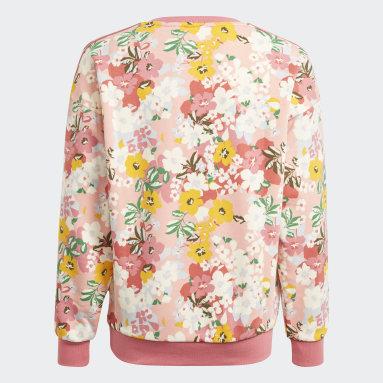 Sweat-shirt HER Studio London Floral Crew Rose Adolescents Originals