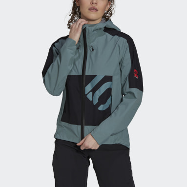 Women Five Ten Green Five Ten Bike All-Mountain Rain Jacket