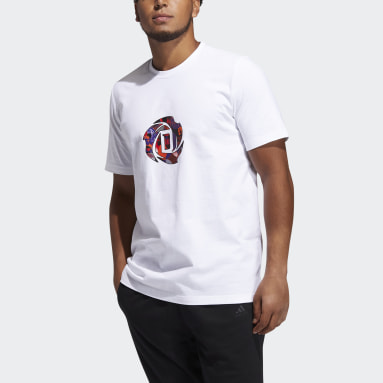 Men's Basketball White LNY Rose Graphic Tee