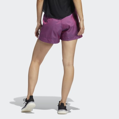 Shorts Elevated Primeblue Pacer Tejidos Morado Mujer Training
