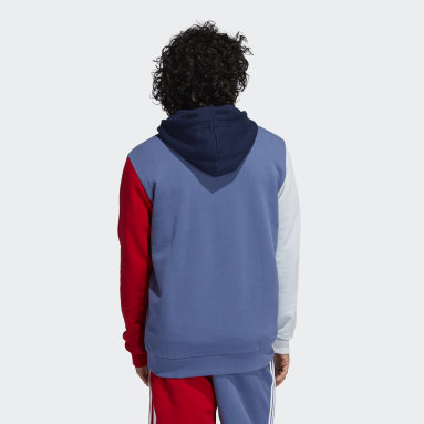 Men Originals Blue Blocked Trefoil Hoodie