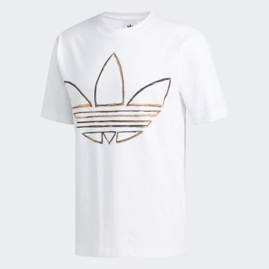 Camiseta Watercolor Branco Homem Originals