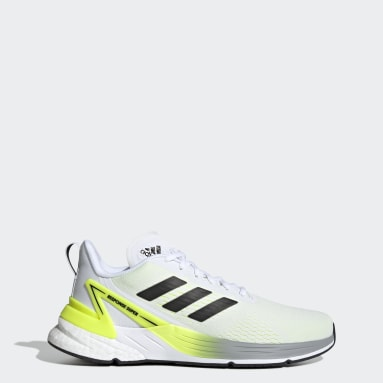 Men Running White Response Super Shoes