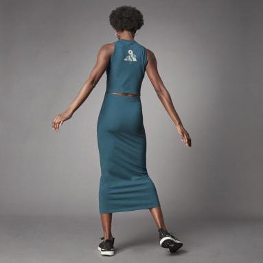 Vestido de Algodão de Produção Biológica Terra Love Turquesa Mulher Lifestyle