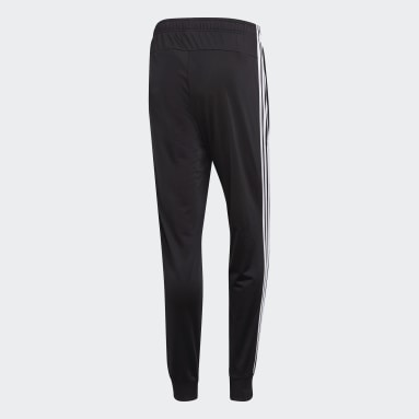 Pantalón Essentials Tapered Tricot 3 Tiras Negro Hombre Training