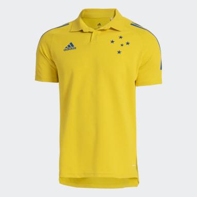 Camisa Polo Cruzeiro Amarelo Homem Futebol