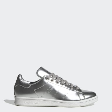 Women Originals Silver Stan Smith Shoes