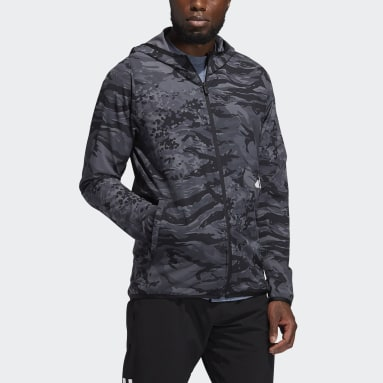 Sweat-shirt à capuche FreeLift Camouflage Training Noir Hommes Running