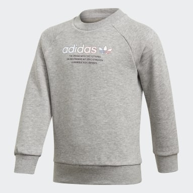 Kids 4-8 Years Originals Grey Adicolor Crew Set
