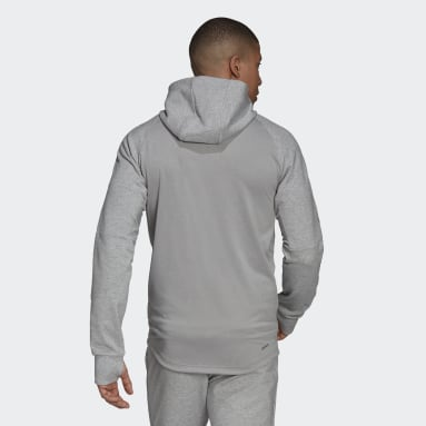 Men Gym & Training Grey AEROREADY Designed to Move Sport Motion Logo Hoodie